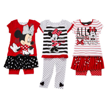 jcpenney.com | Disney Apparel by Okie Dokie Minnie Mouse Bow Tee, Skort or Leggings - Toddler Girls 2t-5t
