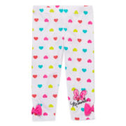 Disney Apparel by Okie Dokie® Minnie Printed Leggings - Preschool Girls 4-6x