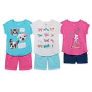 Okie Dokie® Tee, Denim Shorts or Bermuda Shorts - Preschool Girls 4-6x