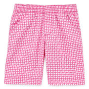 Okie Dokie® Print Bermuda Shorts - Preschool Girls 4-6x