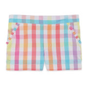 Okie Dokie® Gingham Shorty Shorts - Preschool Girls 4-6x