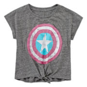 Marvel® Captain America Shield Top - Girls 7-16