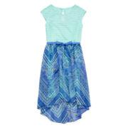 Speechless® Paisley Chevron High-Low Dress - Girls 7-16