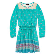 Disorderly Kids® Long-Sleeve Festival Dress - Girls 7-16