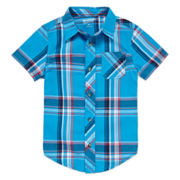 Arizona Short Sleeve Plaid Shirt - Preschool Boys 4-7