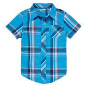 Arizona Short Sleeve Plaid Shirt - Preschool Boys 4-7