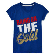Xersion™ V-Neck Graphic Tee - Girls 7-16 and Plus