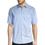 Claiborne® Short-Sleeve True Vista All-Over Printed Shirt