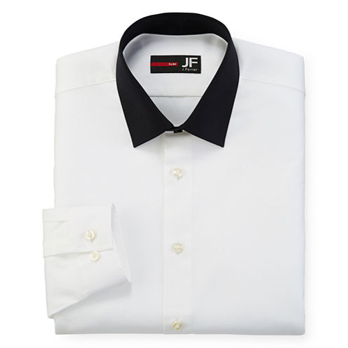 JF J. Ferrar® Easy Care Dress Shirt - Slim Fit