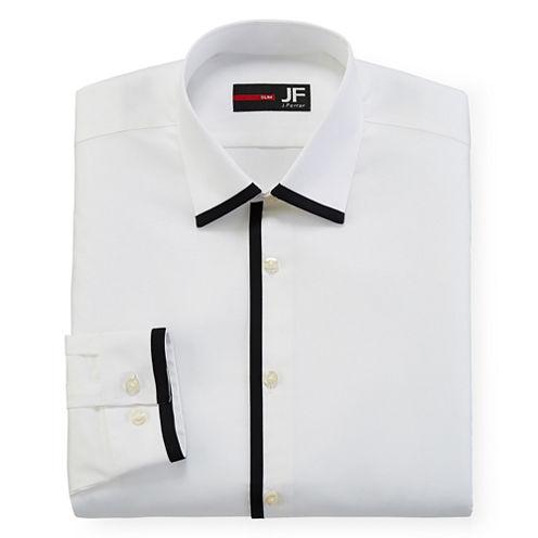 JF J. Ferrar® Easy Care Dress Shirt - Slim Fit