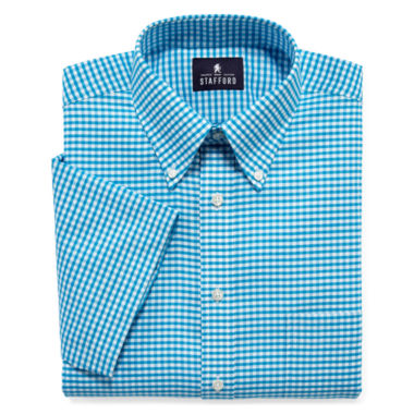 jcpenney.com | Stafford® Travel Wrinkle-Free Short-Sleeve Oxford Dress Shirt - Big & Tall