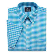 Stafford® Travel Wrinkle-Free Short-Sleeve Oxford Dress Shirt - Big & Tall