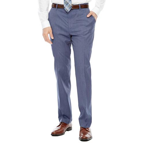 JF J. Ferrar® Birdseye Flat-Front Suit Pants - Slim Fit