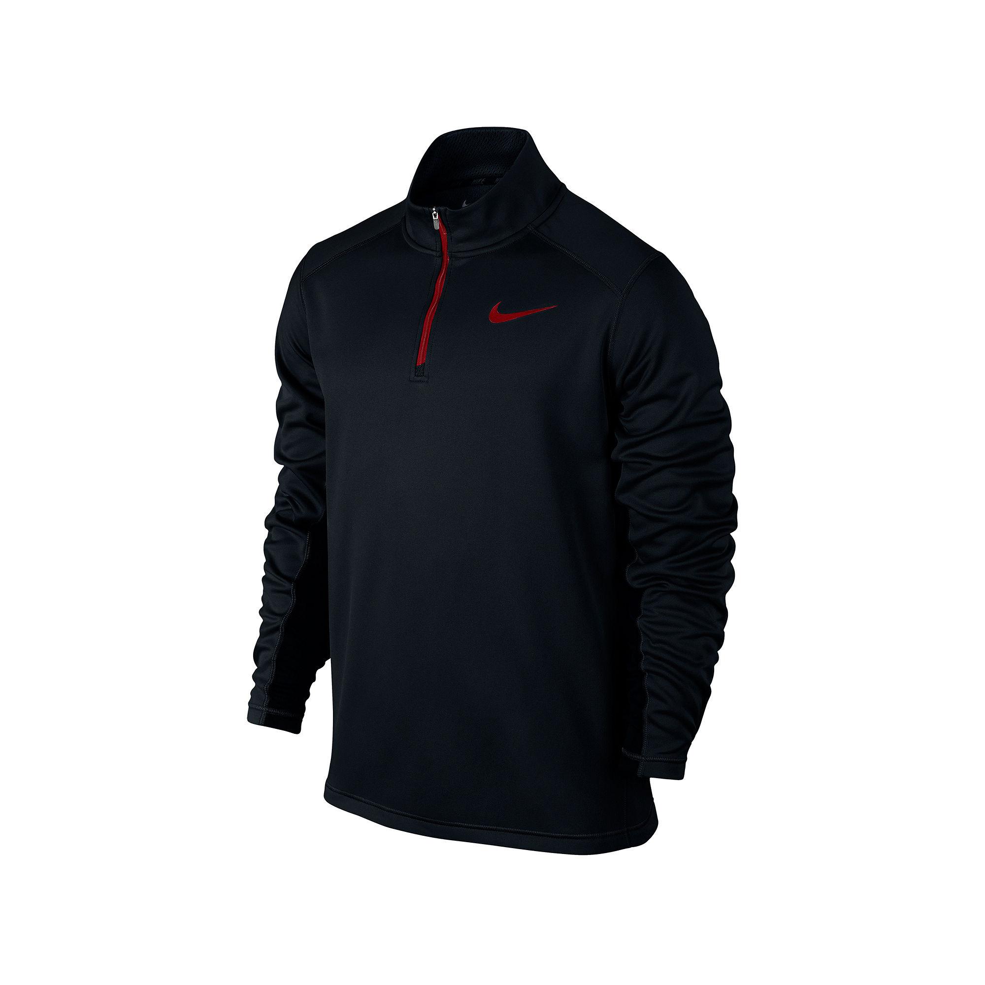 UPC 888408907684 product image for Men's Nike KO 1/4 Zip Top Black/Gym UPC  888408907684 product image for Nike KO Quarter-Zip Fleece Sweatshirt ...
