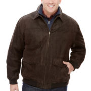 The Foundry Supply Co.™ Leather Bomber Jacket - Big & Tall