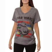 Short-Sleeve Burnout Boyfriend T-Shirt