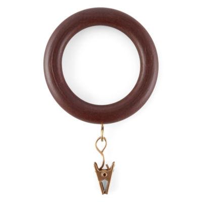 Set of 14 Wood Clip Rings