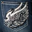 Love Indigo Wing Back Pocket Capris