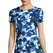 Liz Claiborne® Floral High-Low Peplum Knit Top