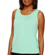 Liz Claiborne® Pleated Knit Tank Top