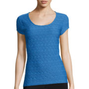 Liz Claiborne® Textured Knit Top