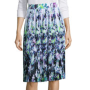 Liz Claiborne® Pleated Floral Skirt - Tall