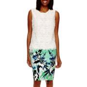 Liz Claiborne® Sleeveless Lace Top or High-Waist Pencil Skirt