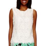 Liz Claiborne® Lace Tank - Tall