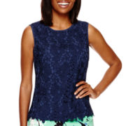 Liz Claiborne® Sleeveless Lace Top