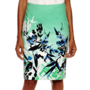 Liz Claiborne®  High Waisted Floral Skirt - Tall