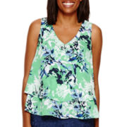 Liz Claiborne®  Double Layer Tank - Tall