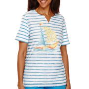 Alfred Dunner® Weekend Getaway Short-Sleeve Striped Top