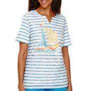 Alfred Dunner® Weekend Getaway Short-Sleeve Striped Top