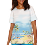 Alfred Dunner® Weekend Getaway Short-Sleeve Scenic Print Top