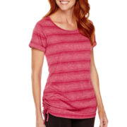 Made for Life™ Cap-Sleeve Shirred Tunic T-Shirt