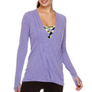 Xersion™ Long-Sleeve Wrap-Front Studio T-Shirt - Tall
