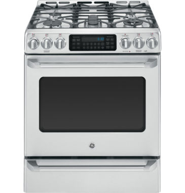 "jcpenney.com | GE Cafe 30"" 6.4 Cu. Ft. Gas Range Self Cleaning Convection Oven & Baking Drawer"""
