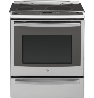 "jcpenney.com | GE Profile 30"" 5.3 Cu. Ft. Slide-In Electric Rangewith Self Cleaning Induction and Convection Oven& Warming Drawer"""