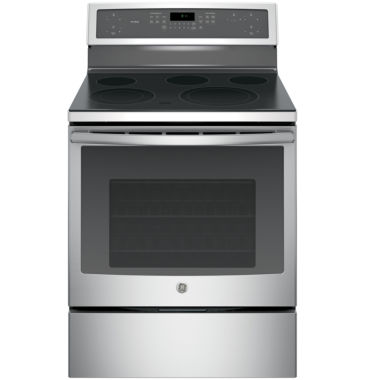 "jcpenney.com | GE Profile™ 30"" 5.3 Cu. Ft. Electric Range with Self Cleaning Convection Oven"