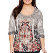 Unity® Sublimation 3/4-Sleeve Blouse - Plus