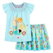 Disney Collection Frozen Shirt and Skirt Set