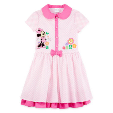 jcpenney.com | Disney Collection Pink Minnie Mouse Dress - Girls 2-8