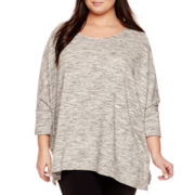 a.n.a® Drapey Poncho Sweater - Plus