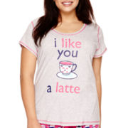 Sleep Chic Women's Short-Sleeve Pajama Top