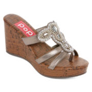 Pop Jetson Slide Wedge Sandals