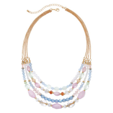 jcpenney.com | Mixit™ Gold-Tone Multicolor Bead 4-Row Necklace