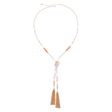 jcpenney.com | Mixit™ Multicolor Seed Bead Knot Tassel Necklace