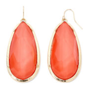Mixit™ Orange Faceted Bead Drop Earrings