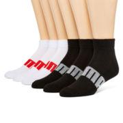 Puma® Mens 6-pk. Quarter Socks