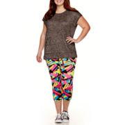 City Streets® Layered T-Shirt or Performance Leggings - Juniors Plus